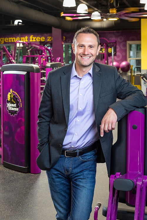 Executive Portrait in the Planet Fitness Headquarters Gym, Hampton, NH