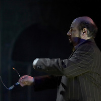 Director Miklos Gabor Kerenyi instructs actors on stage during a dress rehearsal of the new musical piece by Hungary's Operette Theatre based on a novel titled matching the novel Abigel by famous Hungarian writer Magda Szabo. Budapest, Hungary. Wendesday, 21. March. 2008. ATTILA VOLGYI