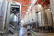 Hall for Wine Production in Enate winery. Barbastro. Somontano. Huesca. Spain
