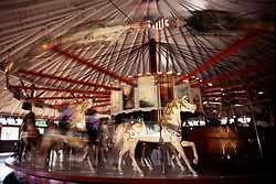 The Slater Memorial Park Looff Carousel, in Pawtucket, RI, still circles and moves up and down to the delight of children on the ride. It dates back to the golden age of carousels of 1880 - 1930.