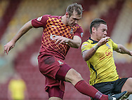 James Hanson (Bradford) scores during the The FA Cup match between Bradford City and Chesham FC at the Coral Windows Stadium, Bradford, England on 6 December 2015. Photo by Mark P Doherty.