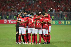 November 2, 2018 - Alexandria, Egypt - Al-ahly's first eleven players during their first leg of Final African Champions League CAF match Between Al Ahly and Esperance de Tunis at Borg Al Arab Stadium,on 2 November, 2018. (Credit Image: © Ahmed Awaad/NurPhoto via ZUMA Press)