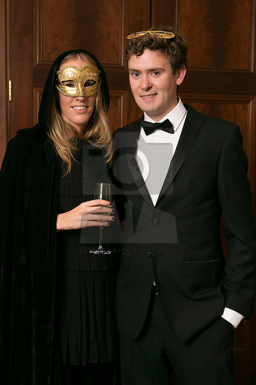 01 November 2013 Nicola Corboy and David Mulvany pictured at the Irish Cancer Society Masquerade Ball in the Shelbourne Hotel. For more information or to support the Irish Cancer Society please visit www.cancer.ie . Picture Andres Poveda