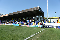 Bristol Rovers fans in the stand - Mandatory by-line: Arron Gent/JMP - 19/04/2019 - FOOTBALL - Cherry Red Records Stadium - Kingston upon Thames, England - AFC Wimbledon v Bristol Rovers - Sky Bet League One