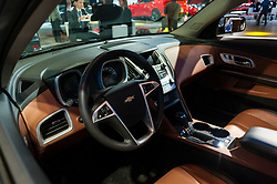 NEW YORK, USA - MARCH 23, 2016: Chevrolet Equinox interior on display during the New York International Auto Show at the Jacob Javits Center.