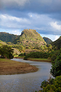 Wiamea Valley on the North Shore of Oahu is an area of historical significance and includes several historical structures