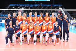 20150619 AZE: 1ste European Games Baku Servie - Nederland, Bakoe<br /> Nederland verslaat Servie met 3-2 / Teamfoto Nederland