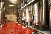 stainless steel tanks chateau lestrille bordeaux france