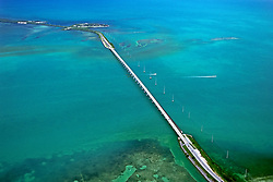 Overseas Highway, carrying U.S. Route 1 or US 1 over Channel Five, connecting Craig Key (front) to Fiesta Key and Long Key, Florida Keys, Florida, USA, Gulf of Mexico, Caribbean Sea, Atlantic Ocean