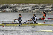 Seville. SPAIN; 17.02.2007; GBR M2- bow Robin BOURNE -TAYLOR and Alistair HEATHCOTE, competing in the Saturdays final of the FISA Team Cup; held on the River Guadalquiver course. [Photo Peter Spurrier/Intersport Images]   [Mandatory Credit, Peter Spurier/ Intersport Images]. , Rowing Course: Rio Guadalquiver Rowing Course, Seville, SPAIN,