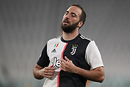 Juventus's Argentinian striker Gonzalo Higuain reacts during the Serie A match at Allianz Stadium, Turin. Picture date: 26th June 2020. Picture credit should read: Jonathan Moscrop/Sportimage