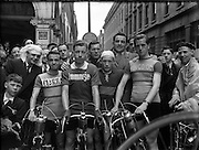Cycling - Rás Tailteann - 8 Day Cycle Race Around Ireland<br /> 01/08/1954  01/08/1954<br /> 08/01/1954<br /> 01 August 1954<br />  <br /> Cycling - Rás Tailteann - 8 Day Cycle Race Around Ireland