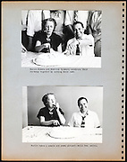 page from a photo album with office workers celebrating a birthday USA 1945