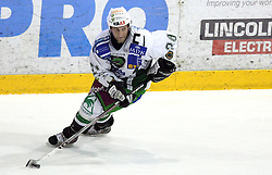 Tomaz Vnuk of Olimpija at 2nd final match of Slovenian National Championships  between HK Acroni Jesenice and HDD Tilia Olimpija, on March 17, 2009, in Podmezaklja, Jesenice, Slovenia. Acroni Jesenice won after free shots 2:1 and are leading 2:0. They need to win 2-times more. (Photo by Vid Ponikvar / Sportida)