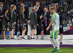 May 24, 2018 - Kiev, Ukraine - Dejected Alexandra Popp of VFL Wolfsburg.during the UEFA Women's Champions League Final match between VFL Wolfsburg and Olympique Lyonnais  at Kyiv, Ukraine on 24 May 2018. (Credit Image: © Kieran Galvin/NurPhoto via ZUMA Press)