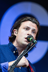 © Licensed to London News Pictures . 19/07/2013 . Suffolk , UK .The Maccabees perform on the Obelisk Stage . The Latitude music and culture festival in Henham Park , Southwold . Photo credit : Joel Goodman/LNP