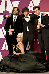 Andrew Wyatt, Anthony Rossomando, Mark Ronson, and Lady Gaga, winners of Best Original Song for 'Shallow' from 'A Star is Born,' pose in the press room during the 91st Annual Academy Awards at Hollywood and Highland on February 24, 2019 in Los Angeles, CA, USA. Photo by Lionel Hahn/ABACAPRESS.COM