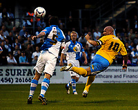 Photo: Richard Lane.<br />Bristol Rovers v Wycombe Wanderers. Coca Cola League 2. 08/08/2006. <br />Wycombe's Tommy Mooney goes closs with a header.