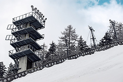 Tower with lights at preparation of Planica Hill 6 days before FIS Ski Flying World Championships 2020, on December 4, 2020 in Planica, Slovenia. Photo by Matic Klansek Velej / Sportida