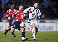 Fotball<br /> Frankrike<br /> Foto: DPPI/Digitalsport<br /> NORWAY ONLY<br /> <br /> FOOTBALL - FRENCH CHAMPIONSHIP 2007/2008 - L1 - LILLE OSC v STADE RENNAIS - 16/02/2008 - YOHAN CABAYE (LIL) / MICKAEL PAGIS (REN)<br /> <br /> Rennes