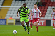 Forest Green Rovers Isaiah Osbourne(34) runs past Stevenage Midfielder, Ben Kennedy (10) during the EFL Sky Bet League 2 match between Stevenage and Forest Green Rovers at the Lamex Stadium, Stevenage, England on 21 October 2017. Photo by Adam Rivers.
