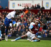 Photo: Mark Stephenson/Sportsbeat Images.<br /> Aston Villa v Portsmouth. The FA Barclays Premiership. 08/12/2007.Portsmouth's Sulley Ali Muntari scores his 2ed goal