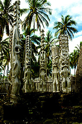 HI: Hawaii; Big Island, Place of Refuge National Park; Pu'uhonua o Honaunau National Historical Park .Photos by Lee Foster, lee@fostertravel.com, www.fostertravel.com, (510) 549-2202.Image: hicity401