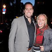 NLD/Amsterdam/20111026- Jubileumconceert Christina Deutekom, CDA politica zwangere Sabine Uitslag en partner Menno Braakman