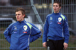 Nik Omladic (17)  of Slovenia warming up during Friendly match between U-21 National teams of Slovenia and Romania, on February 11, 2009, in Nova Gorica, Slovenia. (Photo by Vid Ponikvar / Sportida)