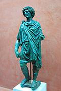 Bronze female figure, Museo Nacional de Arte Romano, national museum of Roman art, Merida, Extremadura, Spain