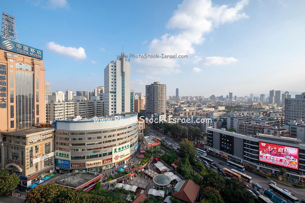 Downtown Kunming, Yunnan province, southwest China