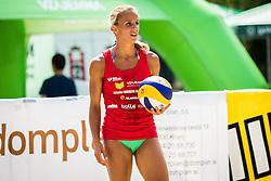 Jelena Pesic of team Ana in Jelena during Qlandia Beach Challenge 2015 and Beach Volleyball Slovenian National Championship 2015, on July 25, 2015 in Kranj, Slovenia. Photo by Ziga Zupan / Sportida