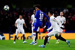 Willian of Chelsea flicks the ball on  - Mandatory by-line: Ryan Hiscott/JMP - 10/12/2019 - FOOTBALL - Stamford Bridge - London, England - Chelsea v Lille - UEFA Champions League group stage