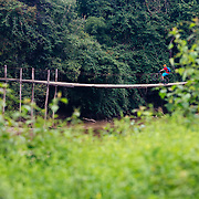 Andrew Whiteford rides single track in the higher altitude jungle near Ban Sop Gai, Thailand.