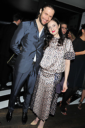 JOE APPEL and ANDREA RISEBOROUGH at the InStyle Best of British Talent Event in association with Lancôme and Avenue 32 held at The Rooftop Restaurant, Shoreditch House, Ebor Street, London E1 on 30th January 2013.
