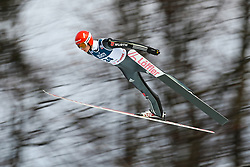 November 19, 2017 - Wisla, Poland - Karl Geiger (GER), competes in the individual competition during the FIS Ski Jumping World Cup on November 19, 2017 in Wisla, Poland. (Credit Image: © Foto Olimpik/NurPhoto via ZUMA Press)