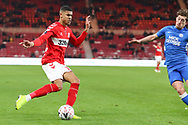 Middlesbrough forward Ashley Fletcher (18) in action during The FA Cup 3rd round match between Middlesbrough and Peterborough United at the Riverside Stadium, Middlesbrough, England on 5 January 2019.