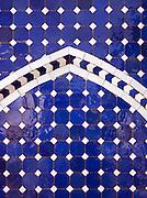 Artisanal Zellij, terra cotta tile work, from a workshop in Fes, Morocco