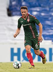 Kristoffer Pallesen (AaB) under kampen i 3F Superligaen mellem FC København og AaB den 17. juni 2020 i Telia Parken, København (Foto: Claus Birch).