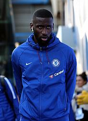 Chelsea's Antonio Rudiger arrives at the stadium prior to the match