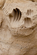 White Mountain Archeological Site, hand prints in stone