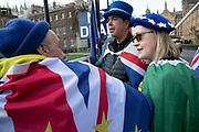 Anti Brexit pro Europe demonstration in Westminster on 27th March 2019 in London, England, United Kingdom. With the date of the UK leaving the European Union extended, the pro EU protest continues as MPs from all sides try to gain control of the process, as they debate the various options in the commons. Brexit protester Steve Bray.