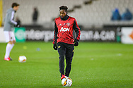 Manchester United midfielder Fred (17) warms up during the Europa League match between Club Brugge and Manchester United at Jan Breydel Stadion, Brugge, Belguim on 20 February 2020.