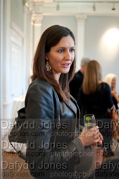NINA MIALL, MCA- Sydney cocktails. Brandon rooms. ICA. London. 11 October 2011. <br /> <br />  , -DO NOT ARCHIVE-© Copyright Photograph by Dafydd Jones. 248 Clapham Rd. London SW9 0PZ. Tel 0207 820 0771. www.dafjones.com.