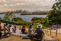 Free flight bird show, Taronga Zoo, Sydney Harbor, Sydney, New South Wales, Australia