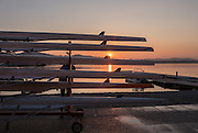 Varese. Lombardia. ITALY. General View.  Sun Set, Crewsreturning from afternoon Training on Lake/Lago Varies. [Varese Rowing Club]. [Canottieri Varese]<br /> <br /> Tuesday  03/01/2017<br /> <br /> [Mandatory Credit; Peter Spurrier/Intersport-images]<br /> <br /> <br /> LEICA CAMERA AG - LEICA Q (Typ 116) - 1/1250 - f2.8 , Atmospheric, mist, fog, Sunrise, Sunset, Blue Hour,