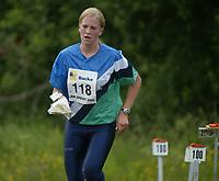 Orientering, 21. juni 2002. NM sprint. Line Hagman, Kolbotn.