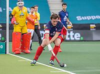AMSTELVEEN - John Verdussen (Leopold)    tijdens de halve finale wedstrijd mannen EURO HOCKEY LEAGUE (EHL),  HC Bloemendaal- Royal Leopold Club (Bel)(1-1) Bloemendaal wint shoot outs en plaatst zich voor de finale.  COPYRIGHT  KOEN SUYK