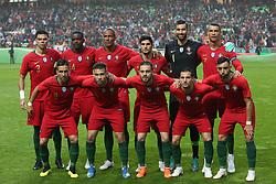 June 7, 2018 - Lisbon, Portugal - Portugal's starter team before the FIFA World Cup Russia 2018 preparation football match Portugal vs Algeria, at the Luz stadium in Lisbon, Portugal, on June 7, 2018. (Portugal won 3-0) (Credit Image: © Pedro Fiuza/NurPhoto via ZUMA Press)