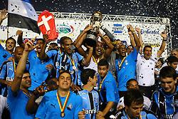 Jogadores do Grêmio comemoram a conquista do Campeonato Gaúcho2010. Foto:Jefferson Bernardes / Preview.com